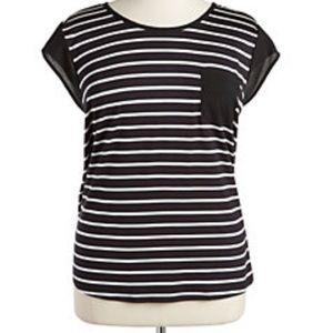 Calvin Klein size 1x striped top plus size